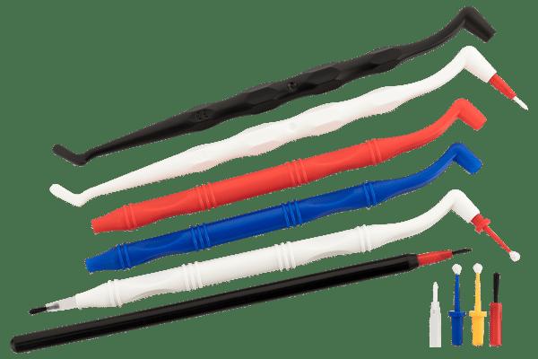 Applikationshalter Pinseleinsätze und MicroTips