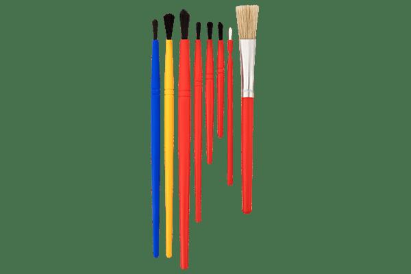 Universalpinsel verschiedene Farben